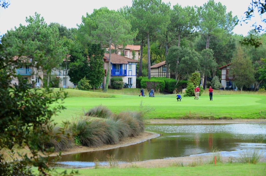 Grün der Spielbahn 9 - © Golf de Moliets